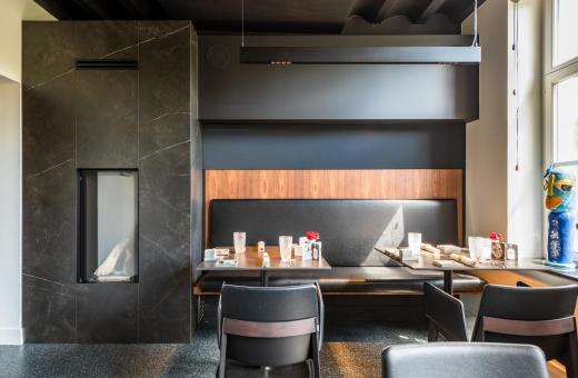 Blik op restaurant interieur van Vivendum