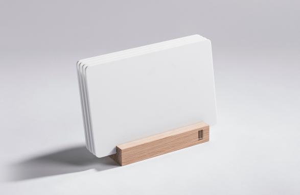 white Bread boards with wood holder