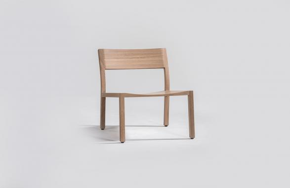 Easy Chair Alfons wood front view
