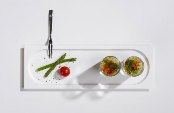 top view Hors d'oeuvres dish