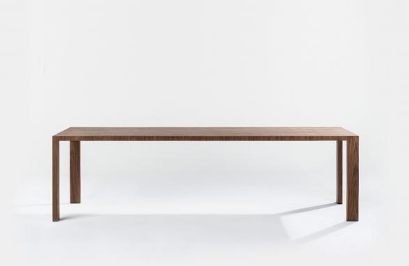 tafel andreza dark wood front view