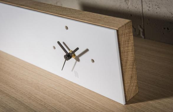 Table Clock wit bovenaanzicht