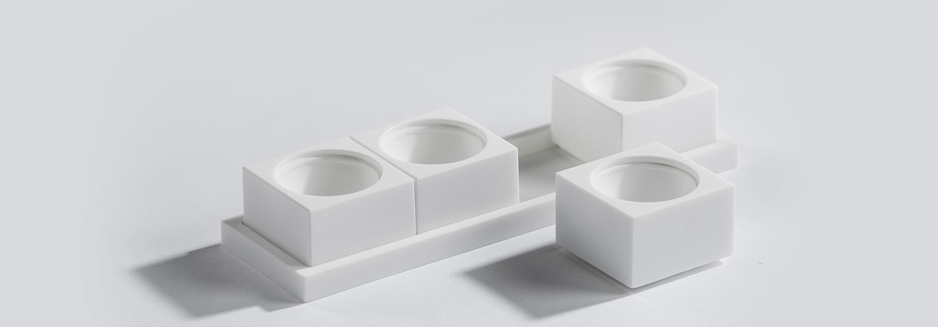 eierdopje vierkant wit collectie zijaanzicht