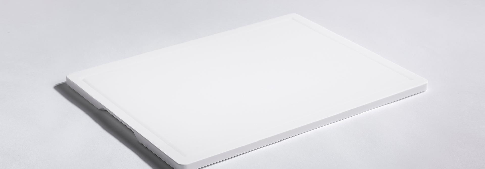 Snijplank groef bovenaanzicht detail