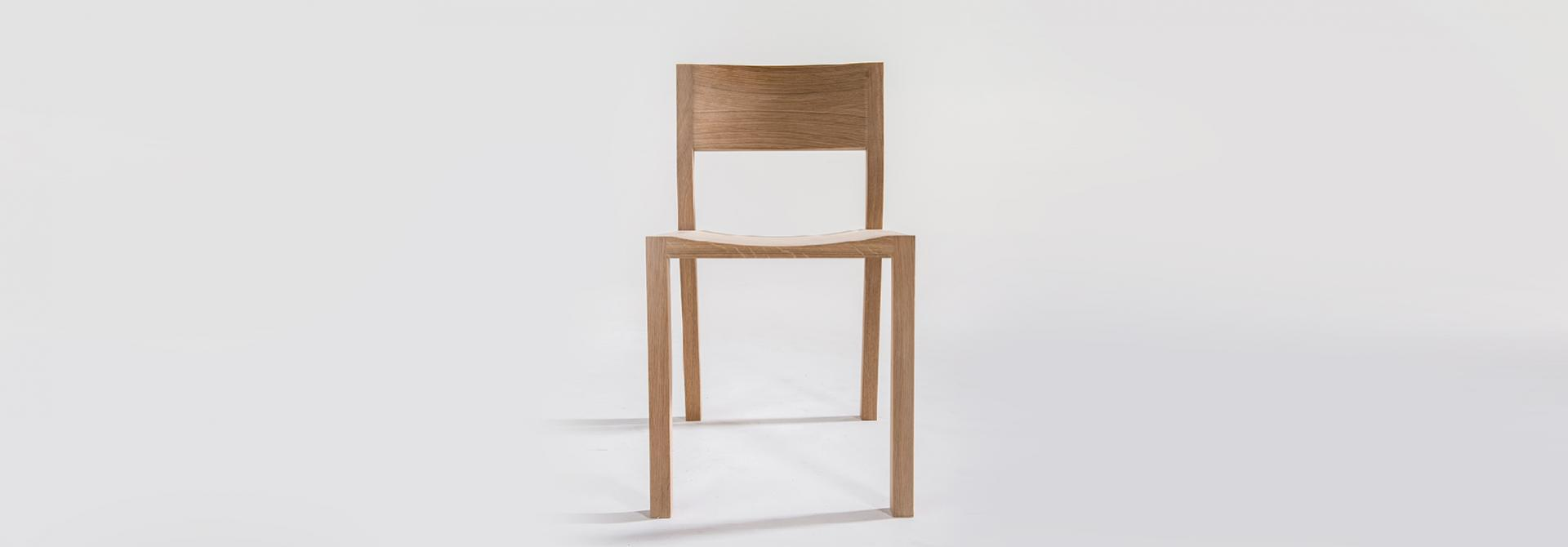 Chair hack wood front view